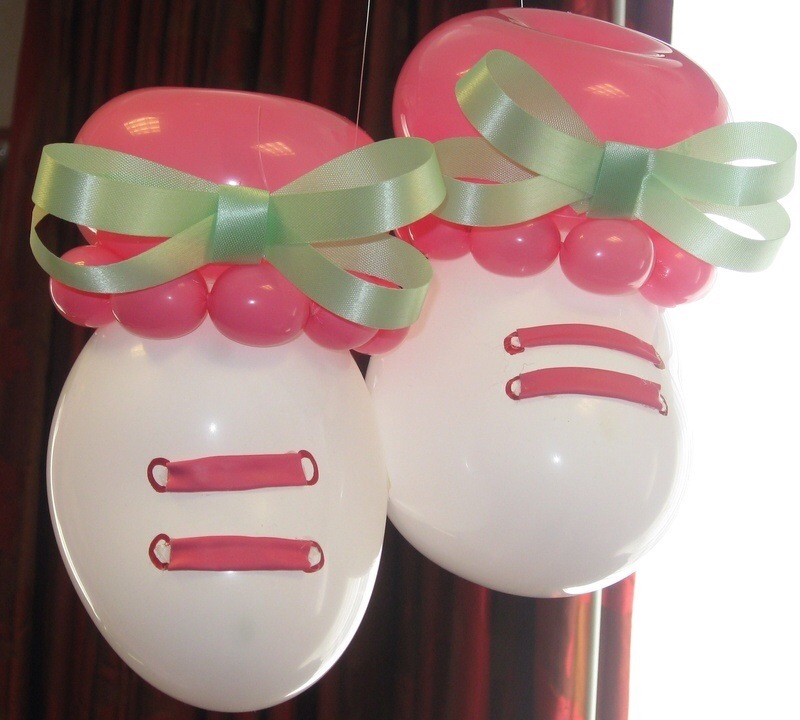Balloons decoration for baby shower party favors ideas for Baby shower decoration ideas with balloons