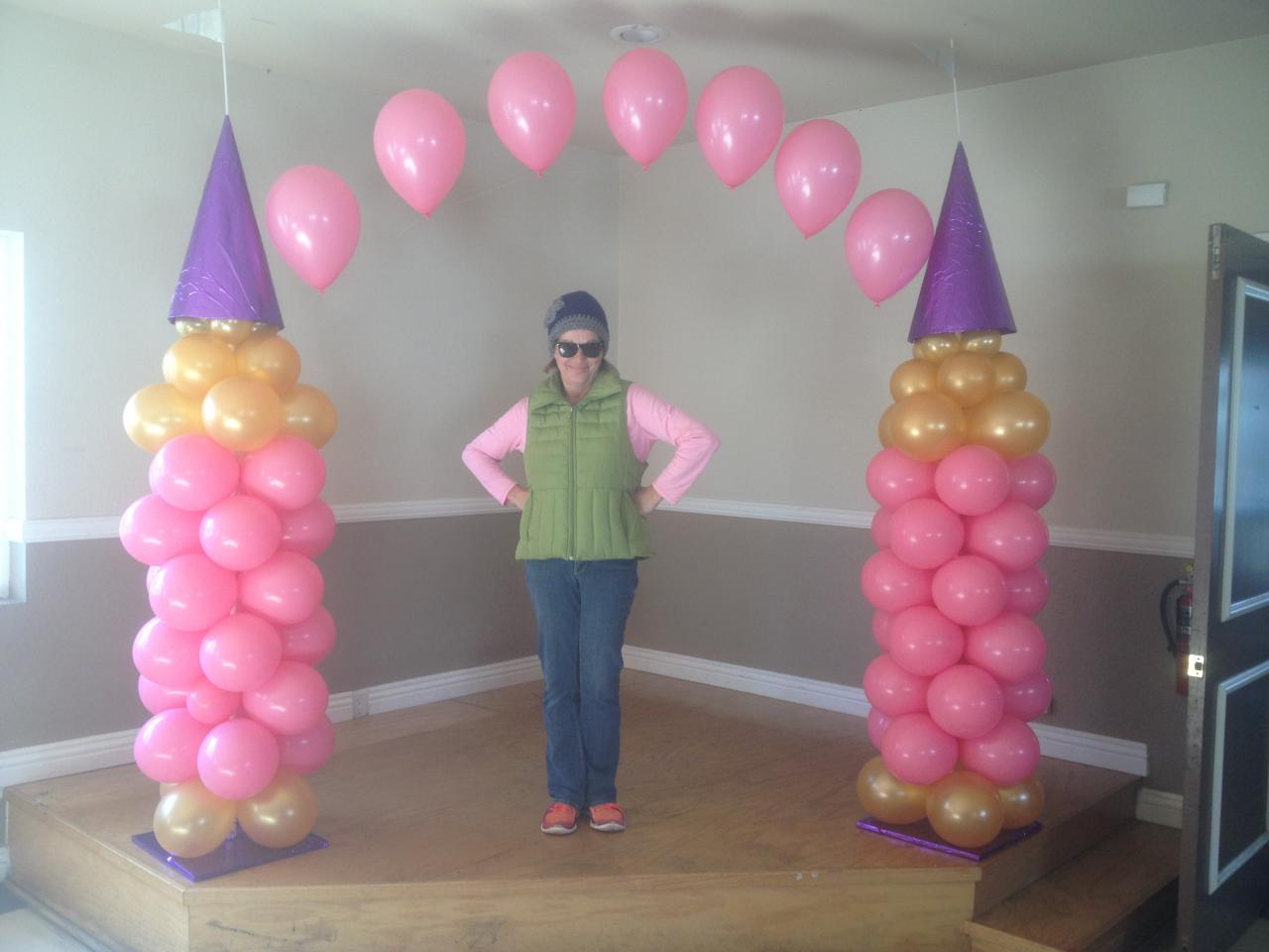 balloon arches can frame a stageor highlight an entrance to an eventthey add elegance and color to any celebrationand make events memorable